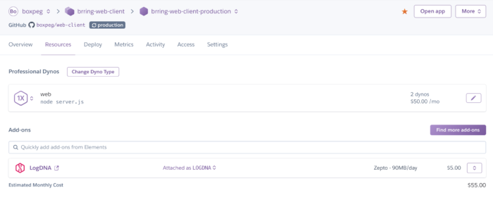 Heroku Resources And Add Ons For Web Client